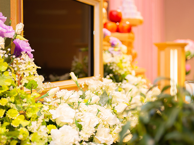 供花や供物も手配いたします