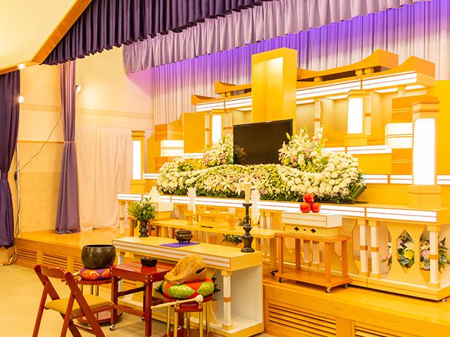 多彩なホールにより幅広いご葬儀に対応可能
